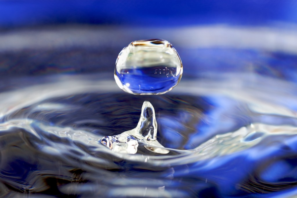 pure water droplet