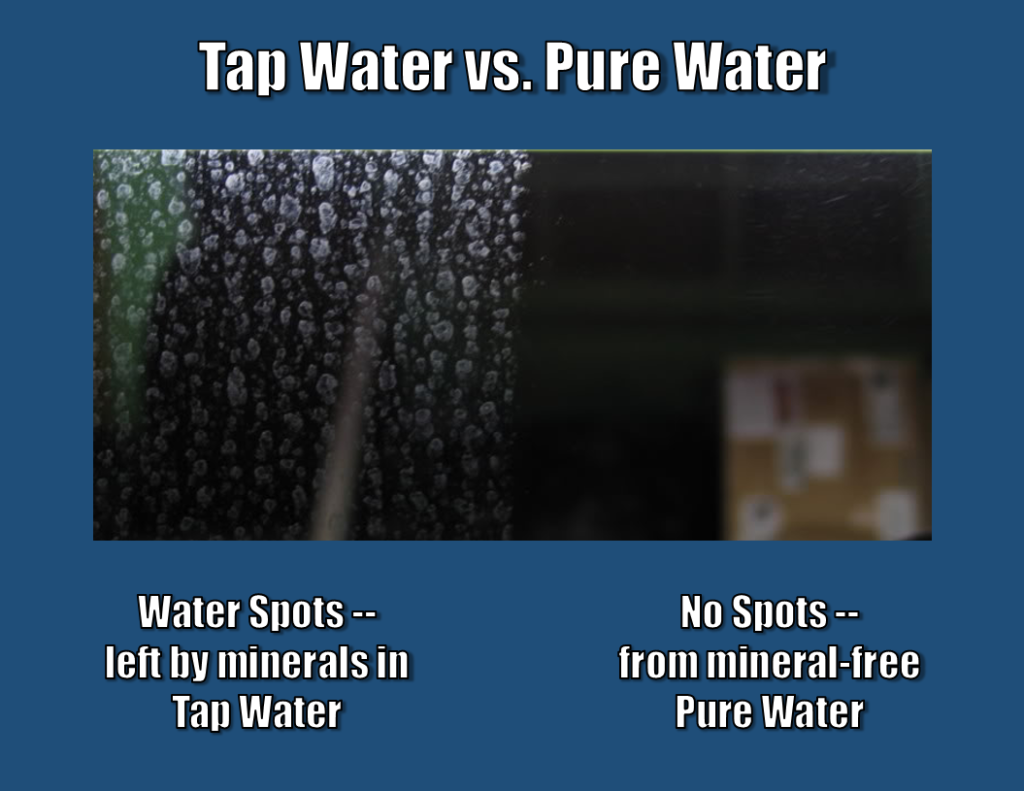 Tap Water Versus Pure Water