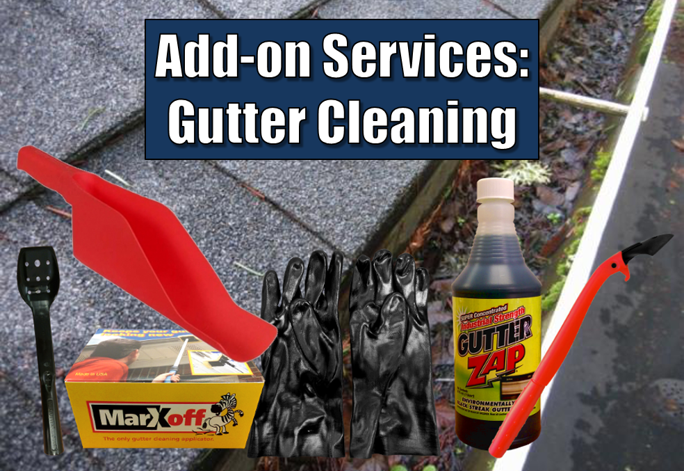 Add-On Services: Gutter Cleaning - Squeegee World - Window ...