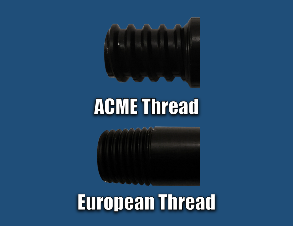 ACME Thread versus European Thread
